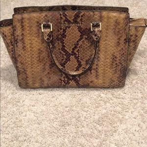 Snakeskin Michael Kors purse